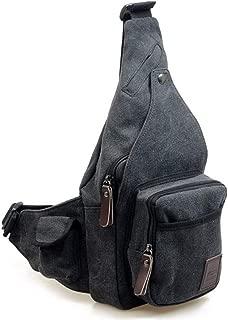 Canvas Sling Bag Crossbody Backpack Daypack Chest Shoulder Bag Chest Multipurpose Backpack