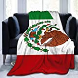 Gorgeous Socks Large Size Mexican Flag Lap Blanket Cozy Thermal Blanket No Shedding Premium Flannel Throw Blanket Luxury Couch Throw Blanket Soft Sherpa Blanket for Bed Couch Car