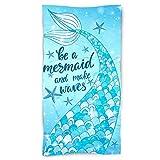 Pinata Mermaid Beach Towel 31' X 63', Mermaid Tail Microfiber...