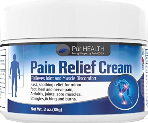 Pain Relief Cream by PurMEDICA. 3 Oz - for Arthritis, Back Pain, Inflammation, Sore Muscles, Joint & Chronic Pain, Sciatica, Planar Fasciitis, Carpal Tunnel, Fibromyalgia, Tennis Elbow