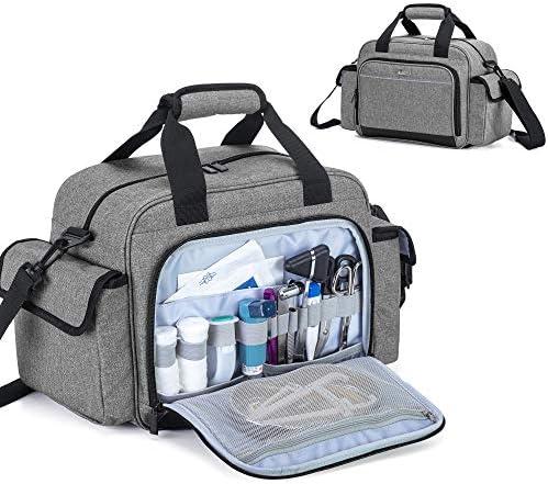 Trunab Home Health Nurse Bag Empty Portable Medical Supplies Shoulder Bag for Hospice Home Visit product image
