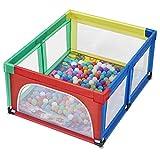 XHCP Adorable Safety Play Center Patio de Juegos Tienda de campaña Valla de Seguridad Parque Infantil Transpirable y Transparente con Puerta con Cremallera Valla de Ejercicio al Aire Libre/Inte
