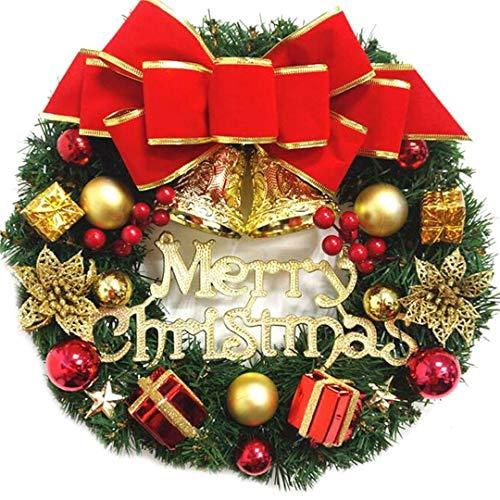 Weihnachtskranz Türkranz Weihnachtsdeko Kranz Künstliche Weihnachtsgirlande Tannengirlande mit Kugeln Handarbeit Weihnachten Garland Deko-Kranz für Innen aussenbereich