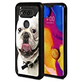 Compatible with LG G6 Case,French Bulldog Anti-Scratch Shockproof Black Silicone Rubber TPU Protective Case Cover for LG G6 Case/LG G6 Plus 2017 Release