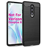 Dzxouui Compatible for Oneplus 1+8 Case,One Plus 8 Case,Protective Phone Cover Shockproof Soft TPU Cases for Oneplus 8/1+8 NOT Compatible with Verizon Variant(DL-Black)