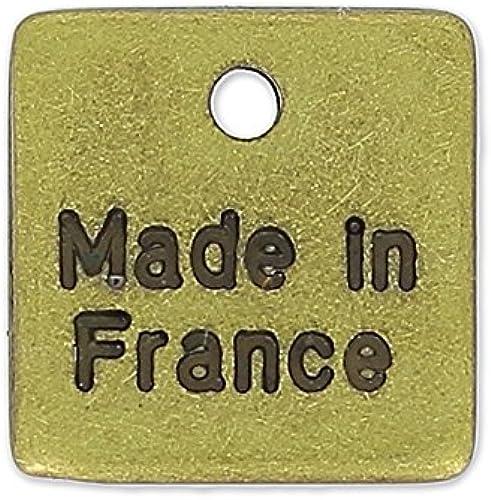 garantía de crédito Dije personalizado cuadrado 10 10 10 mm bronce x1000  ¡no ser extrañado!