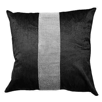 Black Diamante Cushion Cover Elcat Diamant?