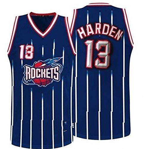 XHDH NBA Basketball Jersey Rockets # 34 Jersey De Baloncesto Olajuwon Cool Rapick Secking Chaleco Vestido Sin Mangas Jersey,Azul,L 175~180cm