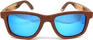 Charlie V - Model Maker Polarized Mahogany/Maple Wood Sunglasses Made in USA