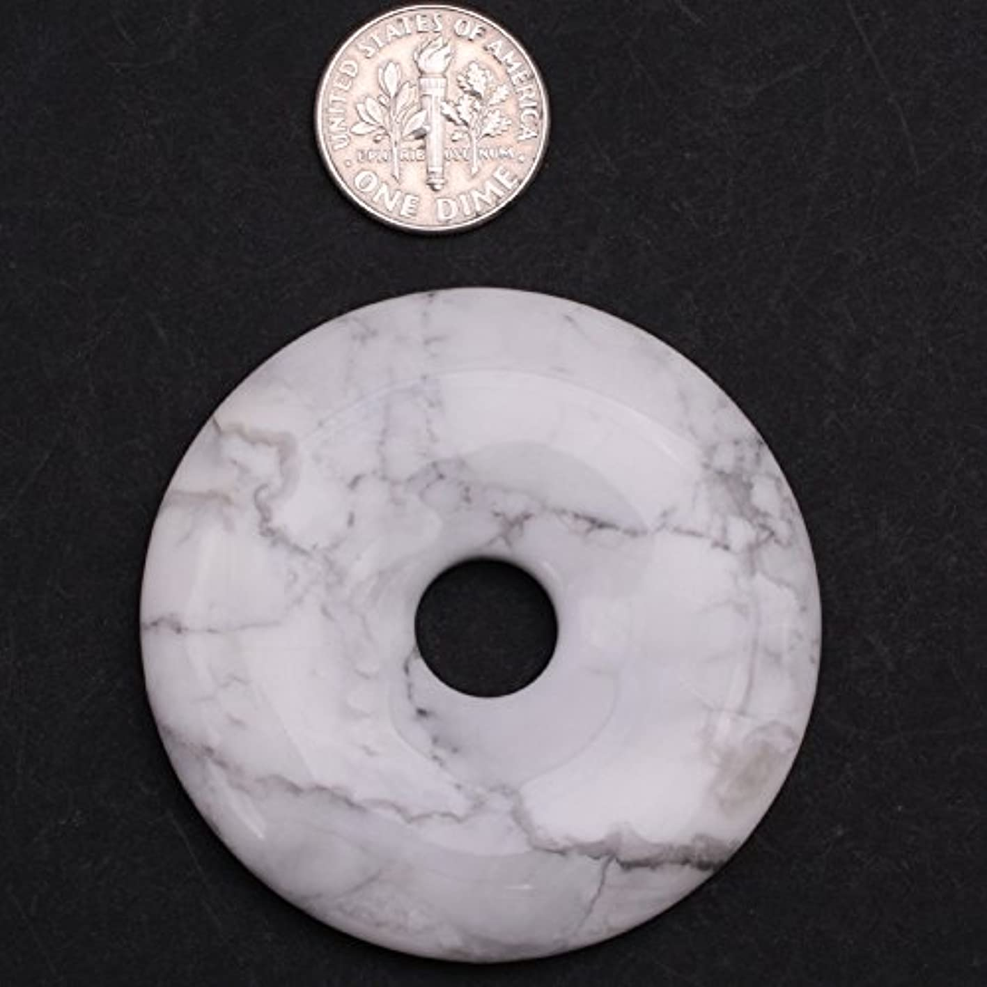 50mm Natural White Howlite Beads For Jewelry Making Gemstone Ring Circle for Earring Bracelet Necklace Jewelry Making (Inside Hole: 9mm) JOE FOREMAN rrsxnkwgjve067