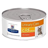 HILL'S PRESCRIPTION Cat Diet Feline c/d Сanned 12 x 156g Multicare Urinary Care - Chicken Wet Cat Fo...