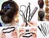 Takestop - Juego de 4accesorios para el pelo, con peine, clip y horquillas para crear moños o trenzas, para mujer