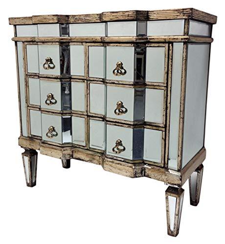 Interieurs In Vogue gespiegelde ladekast Slaapkamer Meubilair Opslag Glas Antiek Zilver Houten