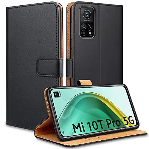 YNMEacc Handyhülle für Xiaomi Mi 10T 5G Hülle, Xiaomi Mi 10T Pro 5G Hülle, Premium PU Leder Schutzhülle Flip Tasche [Kartenfach, Standfunktion] Hülle für Xiaomi Mi 10T /Mi 10T Pro 5G, Schwarz