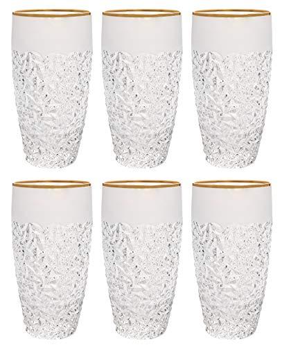 Barski - European Quality Glass - Crystal - Set of 6 - Highball - Hiball...