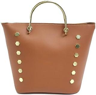 VogueZone009 Women's Dacron Casual Studded Shopping Pu Crossbody Bags,CCABO209140