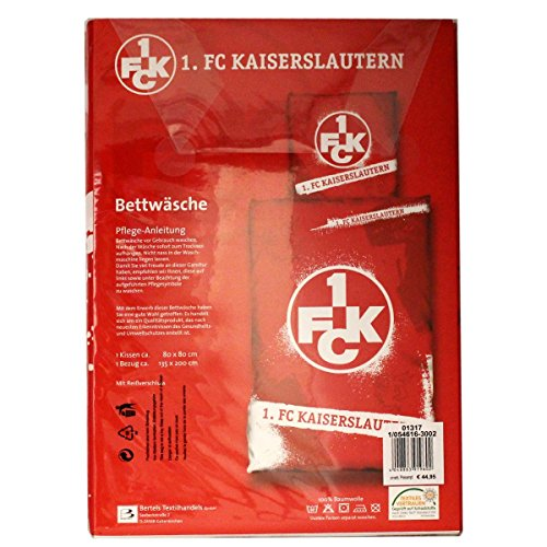 1. FC Kaiserslautern Bettwäsche Logo, 135 x 200cm
