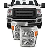 For 11-16 Ford F250/350/450/550 Superduty Pickup Truck Headlights Lamps Direct Replacement Left + Right