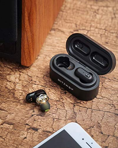 Fone de Ouvido Blitzwolf Bw-Fye7 Bluetooth 5.0 Sem Fio Preto
