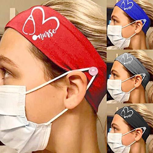 Favelo - Diademas elásticas para la cabeza, para yoga, para correr, al aire libre, antideslizante, para mujeres y niñas (paquete de 4)