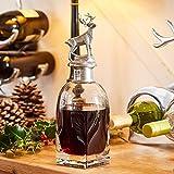 At home in the country Decantador alto de ciervo de 75 cl, estaño fino y cristal, ideal como regalo para whisky, color plateado y transparente, talla...