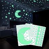 Pegatinas de estrellas que brillan en la noche de Beoankit para techos o pared, Kit de decoración de habitaciones de calcomanías que brillan en la noche, Brillante y realista