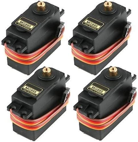 SH-CHEN 4Pcs MG995 Analog Servo Speed Max 72% OFF Manufacturer regenerated product Torqu 20KG High Gear