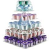 Cupcake-Ständer mit 5 Etagen, Acryl, für Hochzeiten, mit Baum, durchsichtiger Etagere