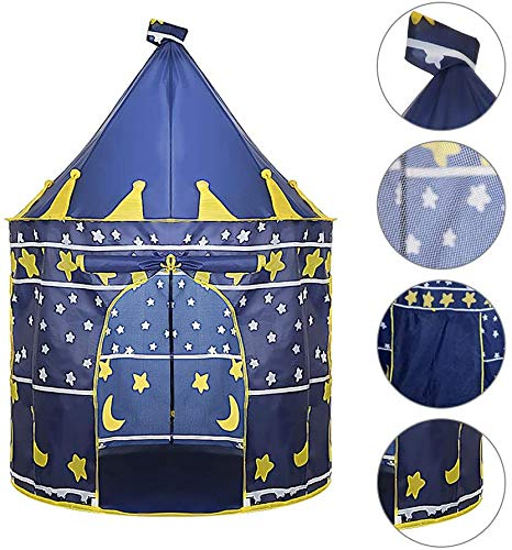 CHTINGDAMAI Tent For Kids Play, Princess Castle Tent Indoor And Outdoor Games Beach, Tent Toys Play Tent Foldable Summern, Blue