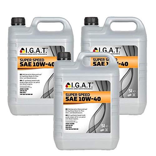 Motoröl Super Speed 10W-40 [3x 5 L] Igat SET20240-0050-IA15L Öl Schmierung