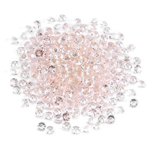 Fdit 1000 pz/Borsa 4,5 mm Acrilico Perle Cristallo Chiaro Acrilico Perla Acrilico Diamanti per Matrimonio Nuptiale di Doccia Vaso Perle DIY Decorazioni Bianco/Trasparente
