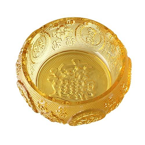 LOVIVER Citrine corne d'abondance or cristal argent corne d'abondance Feng Shui ornement pour richesse chance prospérité cadeau spirituel
