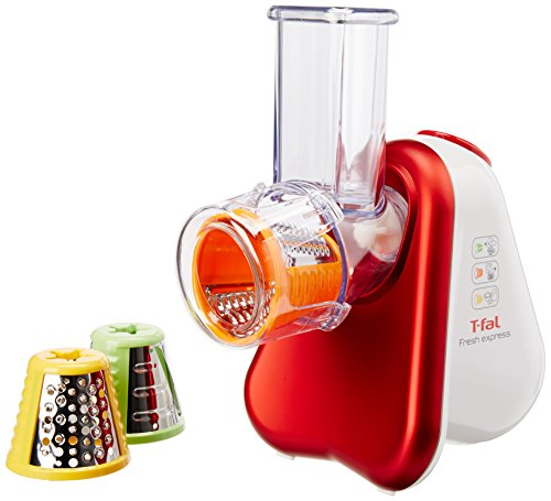 T-fal MB7535MX Rebanador de Verduras Fresh Express 3, Color Rojo/Blanco