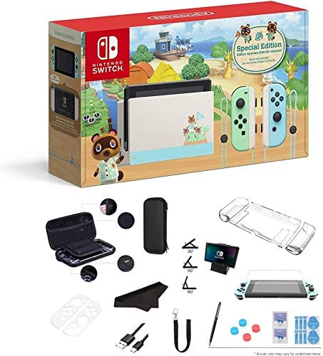 Newest Nintendo Switch Animal Crossing New Horizons Edition 32GB Console Pastel Green and Blue product image