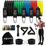 ODCPN Yellow Resistance Bands Set , 150 lbs Workout Bands Stackable Resistance Bands Exercise Bands for Men with Door Anchor, Resistance Bands with Handles for Home Training,Physical Therapy