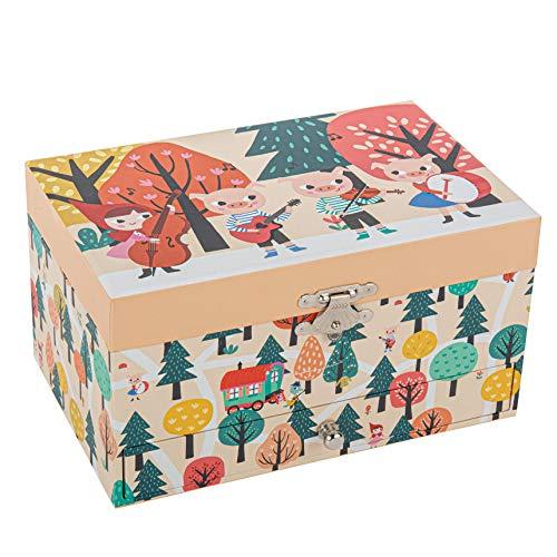 TROUSSELIER - Petit Chaperon Rouge - Boîte à Bijoux Musicale - Idéal Cadeau Jeune Fille - Musique Piano Sonata - Mozart - Colori Multicolor