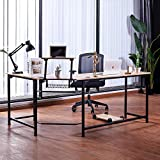 VONLUCE L Shaped Computer Desk with Monitor Stand | 72' & 53' Corner Desk w/USB Charging Station & Cable Management | Space-Saving Home Office Desk w/Sliding Shelf | Simple Modern Gaming Desk, Oak