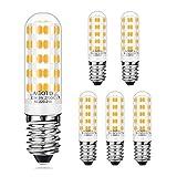 AGOTD E14 Lampadine LED 6W /520LM Bianco Caldo 2700K Lampadina Invece di 60W E14 Lampada Alogena Lampadina a LED con 64 Lampadine Angolo di 360 ° CRI 80+ Lampada a Risparmio Energetico,Confezione da 6