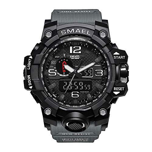 Bainuojia Digital Uhren für Jungen - Wasserdicht Outdoor Sports Digitaluhren Analog Armbanduhr mit Wecker/Timer/LED-Licht, Elektronische Stoßfest Handgelenk Uhr für Jugendliche (Black)