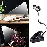 5 LED Luz de Lectura, 360° Flexible y Portátil Lámpara de Lectura con Clip USB Recargable para Lector Electrónico, Niños, Lectura en la Cama