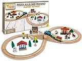 Teorema 40505 – Allegro Pista tren de madera, 40 unidades) , color/modelo surtido