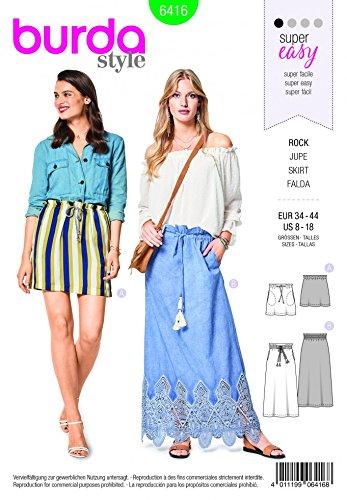 Burda Easy Schnittmuster 6416 – Sommerröcke für Damen