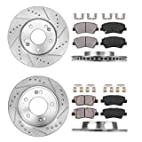 Callahan CDS02275 FRONT 280mm + REAR 262mm D/S 5 Lug [4] Rotors + Ceramic Pads + Clips [ fit 2011-2018 Hyundai Elantra ]