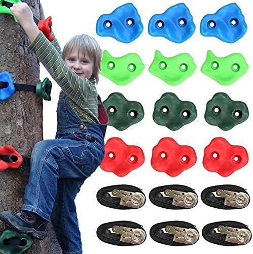 UEKZEST 12pc Tree Climbing Holds Soldering for Kids Washington Mall Rocks 6 with