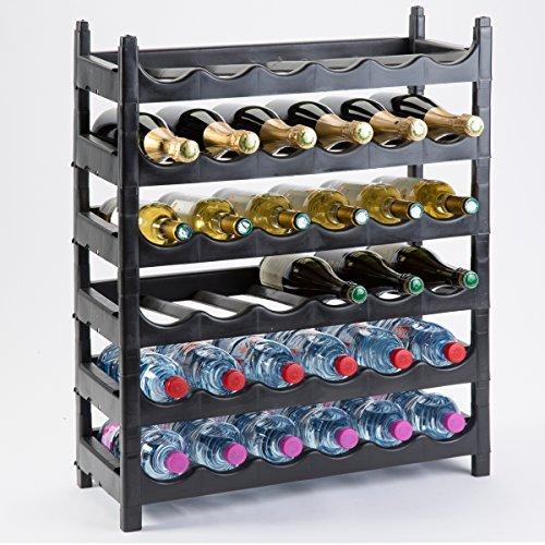 Botellero modulable de plástico para 36botellas