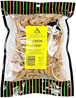 Tasty Sweet Dried Lemon Strips - Popular Crack Seed Style Oriental Fruit Snack - Packed fresh in Hawaii - 8.5 Ounce