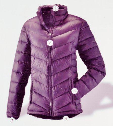 Tchibo Hochwertige Daunensteppjacke Ultra leicht und besonders Wärmend Down Quilted Jacket Gr S (Passform Normal) Dark Viloet