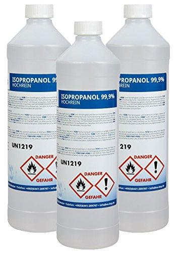 3x baytronic Isopropanol Isopropylalkohol IPA 1 Liter 99,9% (3 Liter)
