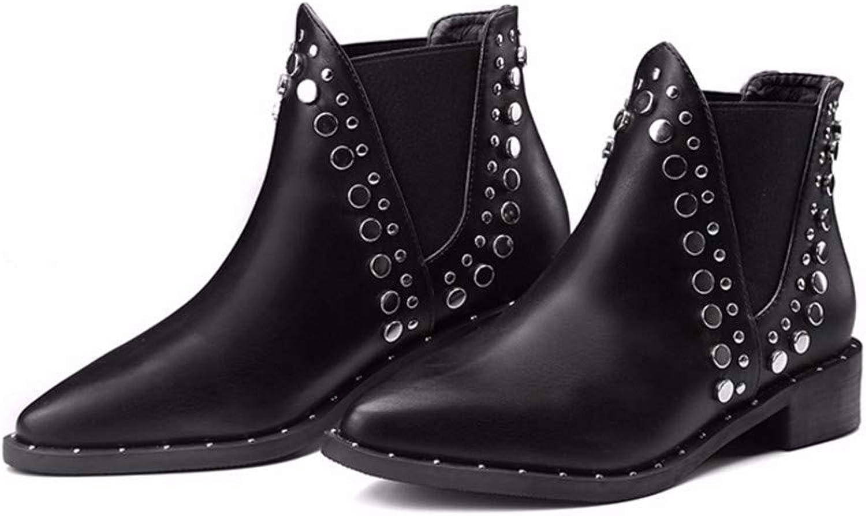 Xeb Outdoor-Kunstleder Reißverschluss Lackleder Paar Martin Stiefel  | Komfort  | Viele Stile
