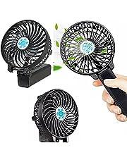 Handy F2 Şarjlı Mini Fan Masa Üstü Ve Elde Tutmalı Katlanabilir Fan Vantilatör Usb Soğutucu Sessiz El Fanı Mini Taşınabilir siyah